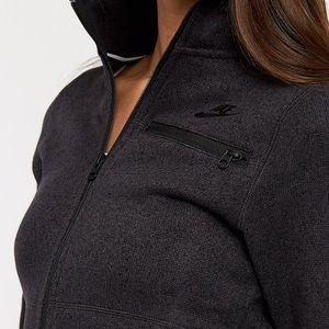 Nike Heathered Black Knit Jacket